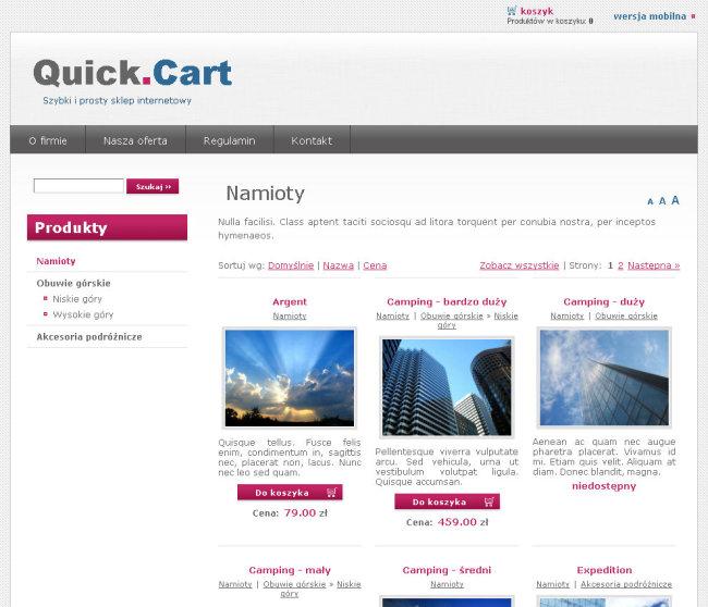 Quick cart darmowy sklep internetowy